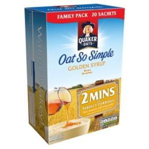Quaker Oats Oat So Simple Golden Syrup Flavour 20x36