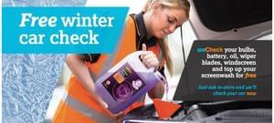 FREE Winter car check at Halfords