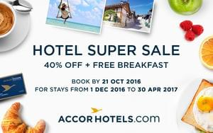 AccorHotels SUPER SALE. Save 40%. ENDS FRIDAY.