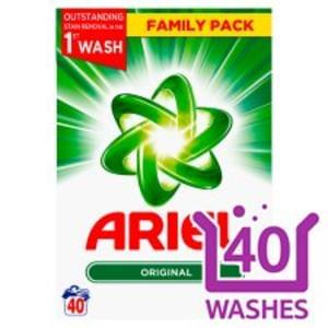 Ariel Washing Powder Discount 40 Washes 2.6Kg
