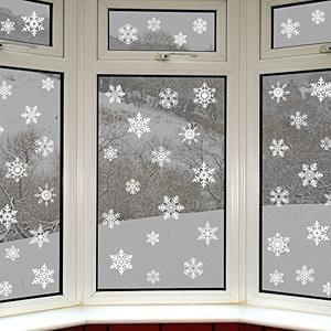 42 Original Snowflake Window Clings (glueless)