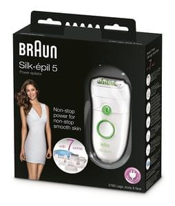 Braun Silk-Epil 5 Power 5780 Epilator with 7 Extras at Amazon deal of the day