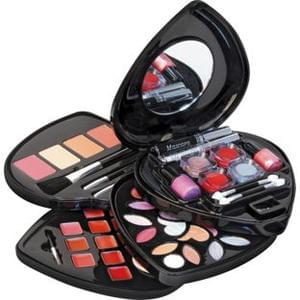 Discounted Pretty Pink Heart Shaped Cosmetic Box and Make-up Set @ Argos