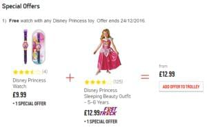 FREE watch with any Disney Princess Toy