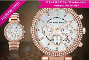 Gorgeous Rose Gold Ladies Michael Kors Parker Watch
