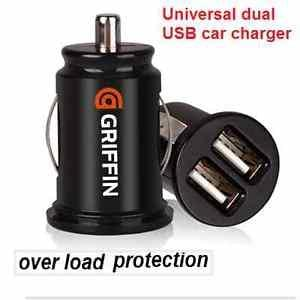 dual twin port USB 12 V universal car charger adapter Free P&P