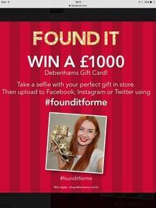 WIN a £1000 Gift Card