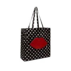 Discount Lulu Guinness Polka Dot Lip Foldaway Shopper Save £20 @ Very