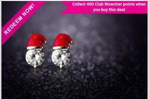 Cute Santa Hat Earrings at Wowcher