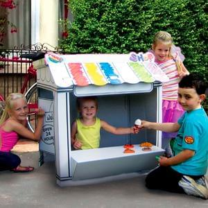 Colour In Cardboard Shop Playhouse Half Price