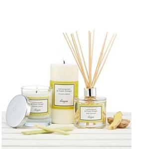 Linea Lemongrass and Ginger pillar candle - half price
