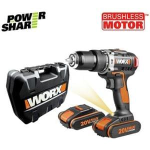 Discount Worx 20V 1.5Ah Brushless Hammer Drill with 2 Batteries Save £65 @ Argos