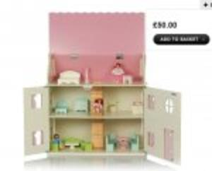 Home Wooden Dolls House and Furniture Set With 20% Discount @ Asda
