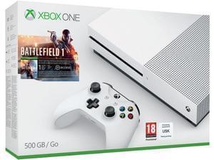 Xbox One S 500GB Battlefield 1 Bundle, Mafia 3 & Overwatch (GTA V for £20 extra)
