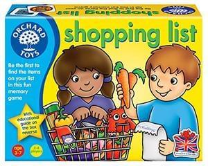 Shopping List Game (Award winning game) Age 3-7