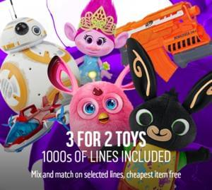 Argos Toy Sale 3 for 2 - Starts Friday 4th November 2016