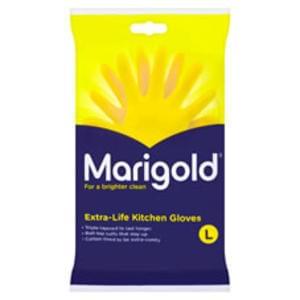 Marigold Kitchen Rubber Gloves Large