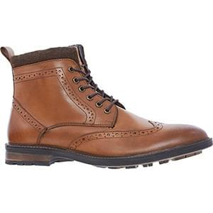 Discount Dune Tan Leather Brogue Boots Better Than Half Price @ TKMaxx