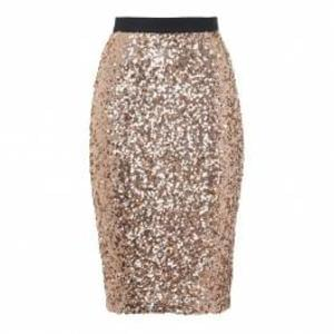 Christmas Party Dress: French Connection Gold Sparkle Pencil Skirt