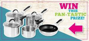 Win a Collection of Pots & Pans