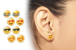 How cool are these? Set of 4 EMOJI earrings!!