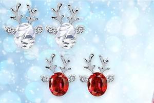 Crystal Reindeer Earrings! Only £4!!