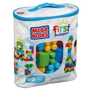 Mega Bloks First Builders Big Building Bag  60 blocks
