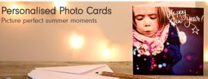 2 for 1 on pack of 10 Personalised Photocards with code!