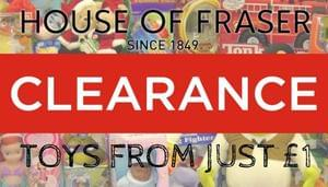 House Of Fraser Toy Clearance