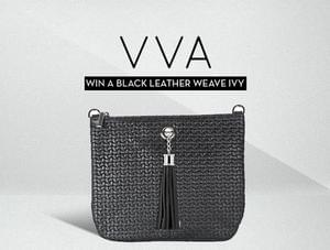 Win a Black Leather Pouch Bag
