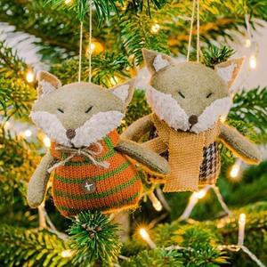 Win Fox Christmas Decorations