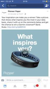 A garmin vivosmart band