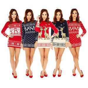 Christmas Knitted Jumper Dress (Free Delivery)
