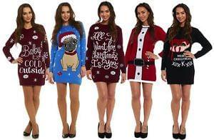 Christmas Knitted Jumper Dresses (Free Delivery)