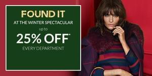 Debenhams Winter Spectacular Sale (25% off + 10% off with voucher)