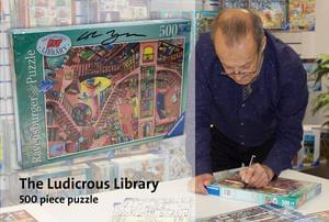 Signed copy of Colin Thompson's The Ludicrous Library (Puzzle)