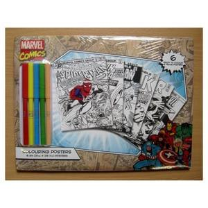 Marvel Comic Posters - Pack of 6 - Colouring Set just £2