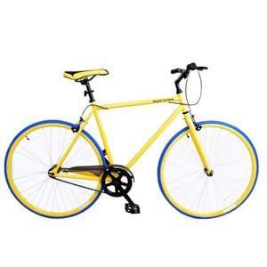 Royal London Fixie Fixed Gear Single Speed Bike Yellow/Blue