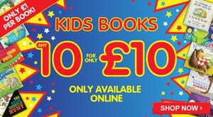 10 popular kids books for £10 - save £3-£5 / book!