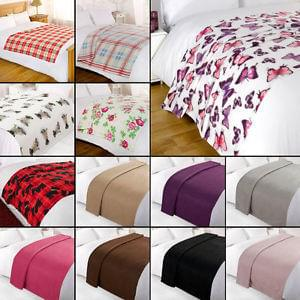 Cheapest Throws and Blankets Just £5.65 Free Delivery