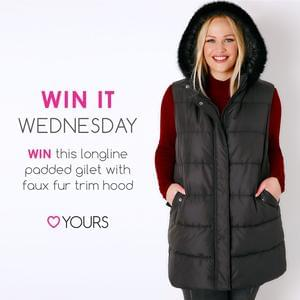 Win a Longline Padded Gilet from Yours Clothing