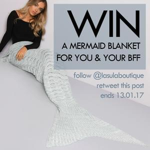 Win a Mermaid Blanket from Lasula