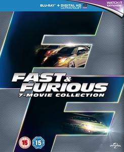 Fast & Furious 7 Movie Blu-Ray Box Set Only £13.58