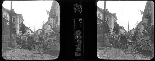 Someo dopo l'alluvione del 1924 - stereofoto