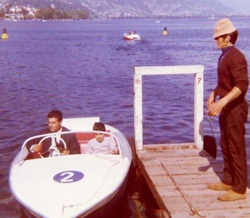 Uscita sul lago di Locarno nel 1967 con la barca a noleggio