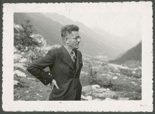 Guglielmo Canevascini in montagna