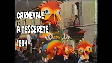 Carnevale a Tesserete: il corteo (1984)