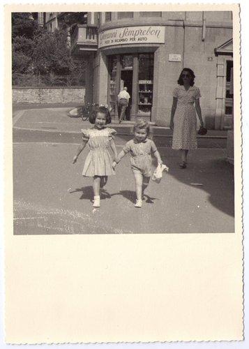 via Dufour, Lugano, anni Cinquanta