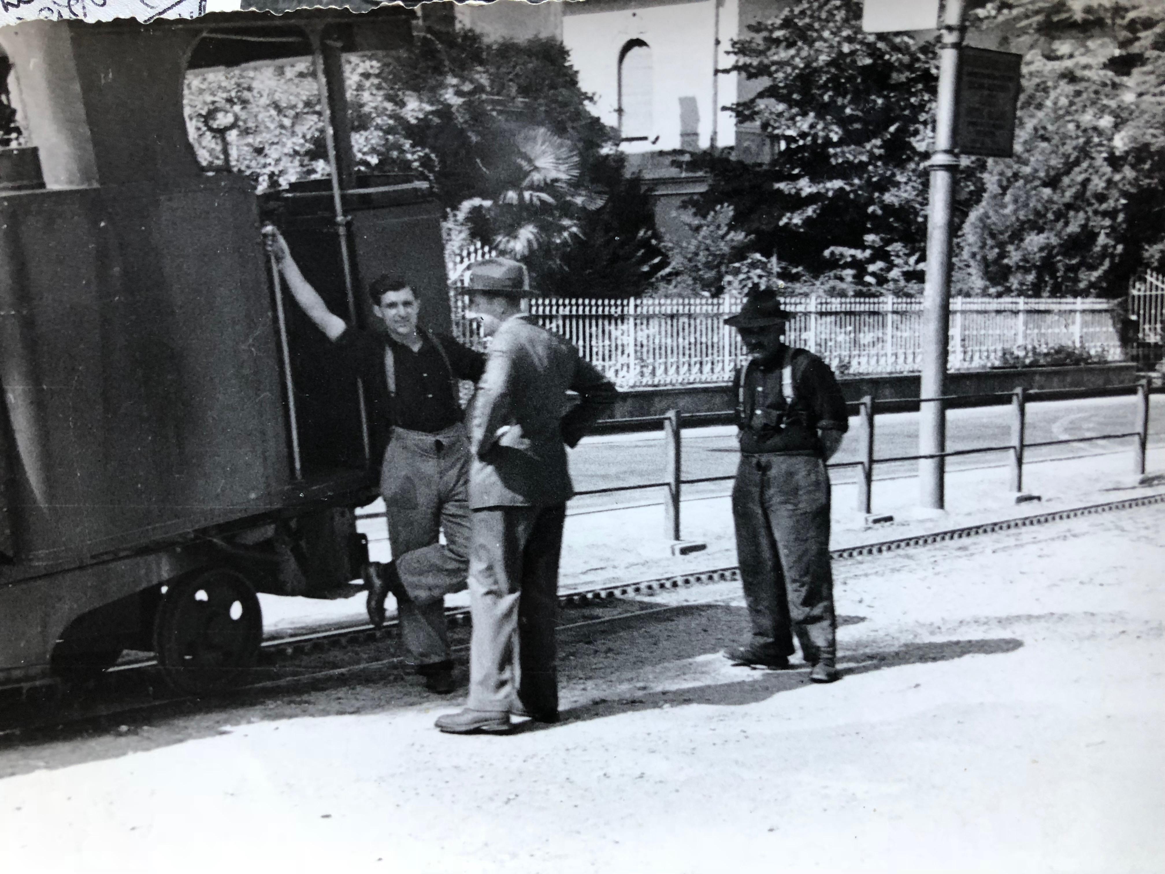 Capolago visita del re e della Regina della Bulgaria 1940 ca