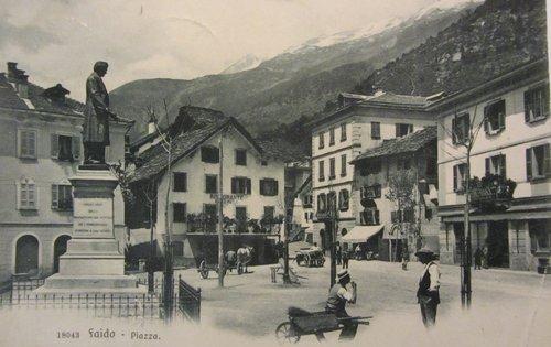 Faido Piazza Stefano Franscini inizi '900